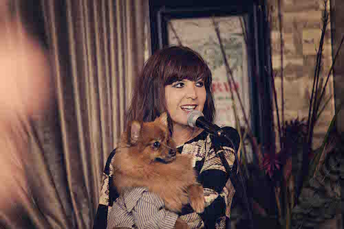 Anji Graham and Mr Hendrix, the Pomeranian puppy who inspired a childrens' book series.