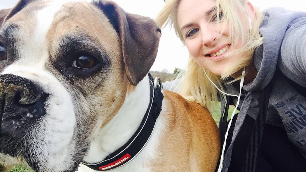 Emma Overson, a friend of pet bereavement counsellor Shona McLean, and her dog Ruby.