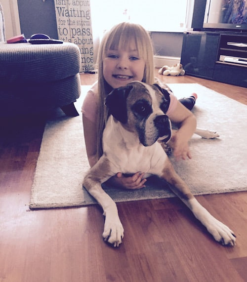 Shona helped one of her friends Emma come to terms with losing Boxer Ruby.