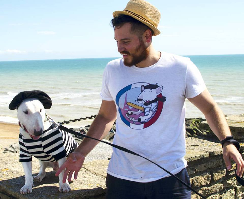 Rocky the Traveller and owner Danny Romero have launched their own clothing range.