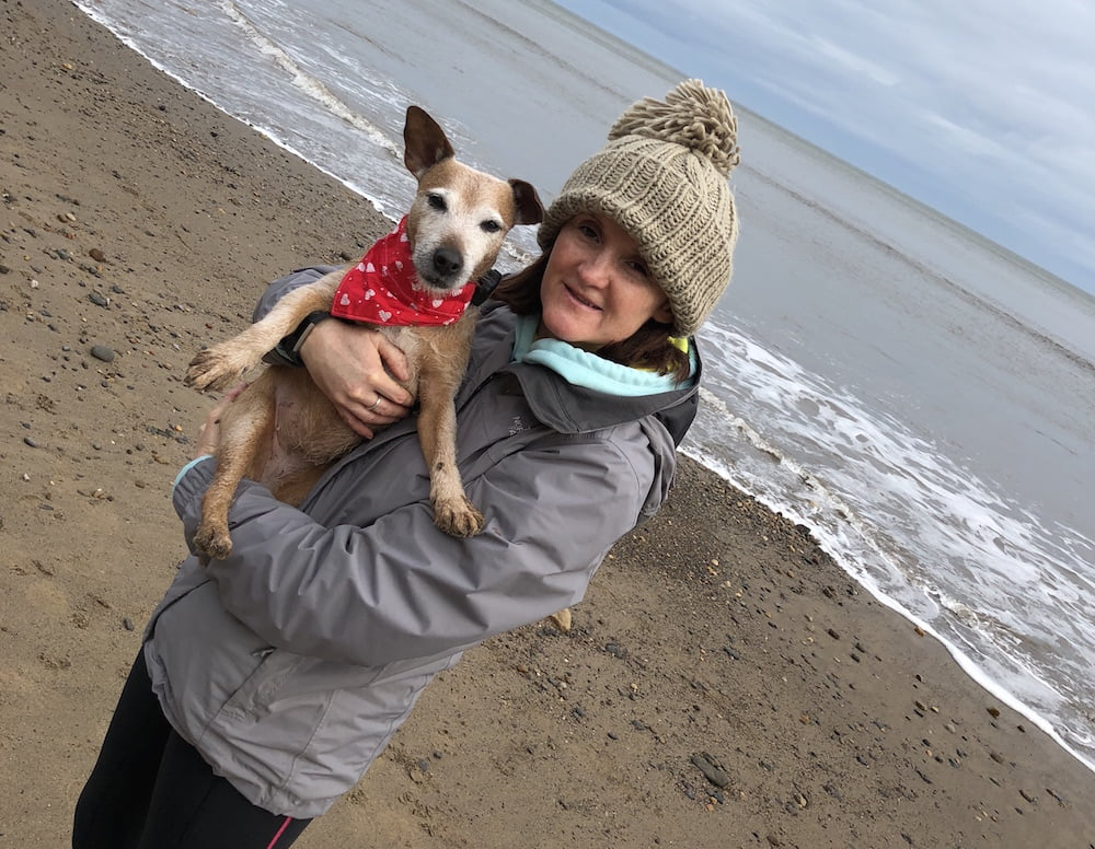 Dog blogger Rachel Spencer and her dog Daisy