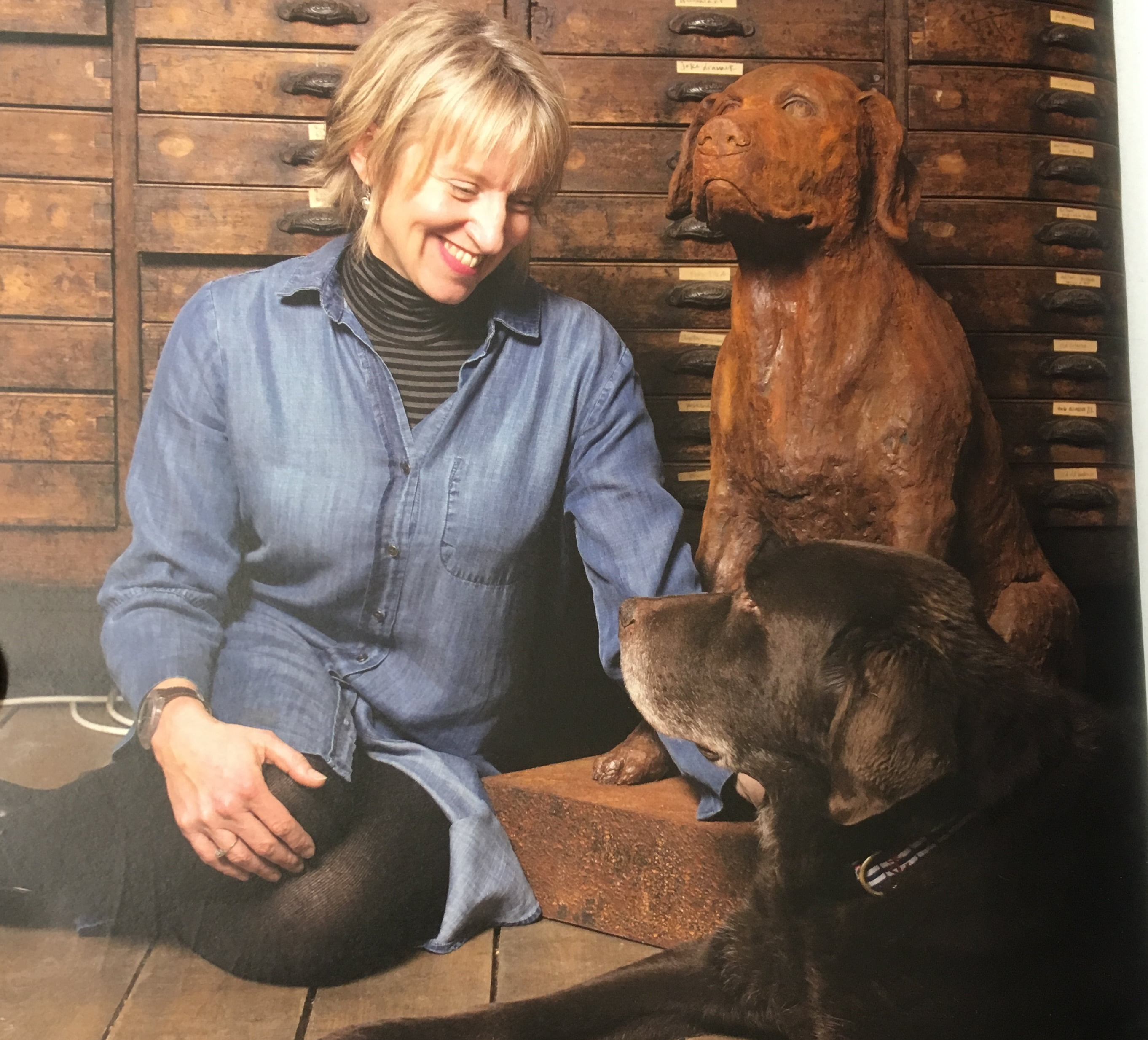 Sam Toft and Moses, her first dog after her career took off