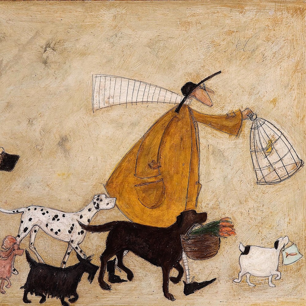 Sam Toft has her own dogs who sometimes feature in her work.
