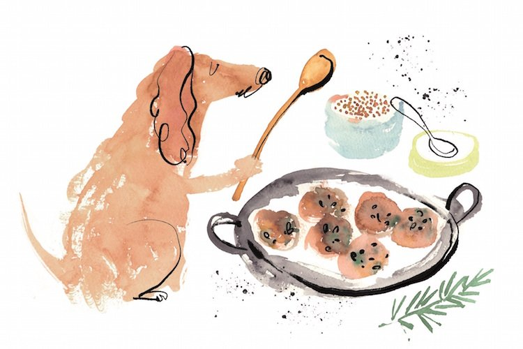 Debora Robertson created a cookbook for dogs after cooking for her Terrier Barney.