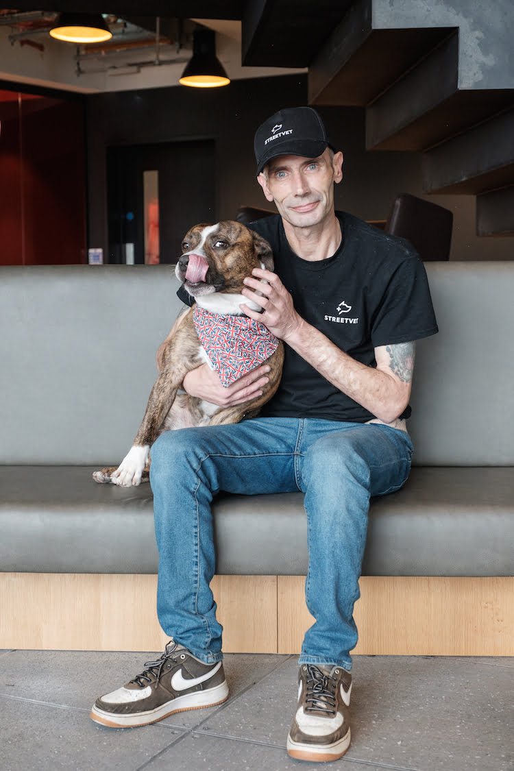 Andy Hutchins shares how StreetVet helped him and his dog Bailey. Andy is no longer homeless and is training to be an outreach worker and writing a book on his life.