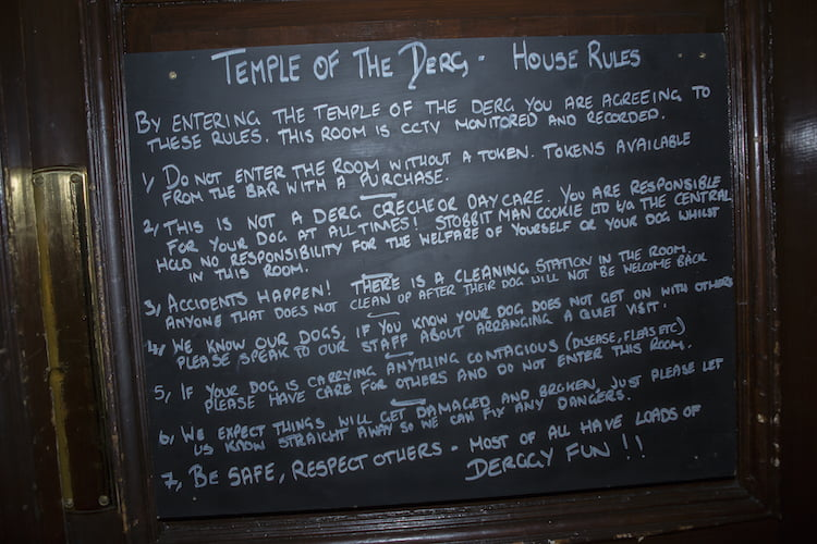 The Central Bar in Gateshead has a dedicated doggy menu, brew their own dog beer and even have a playroom for pups.