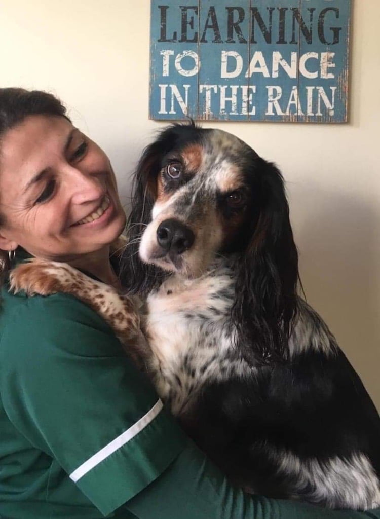 Carla Finzel is a registered vet nurse and is the first in the UK to provide a district nursingg service for pets