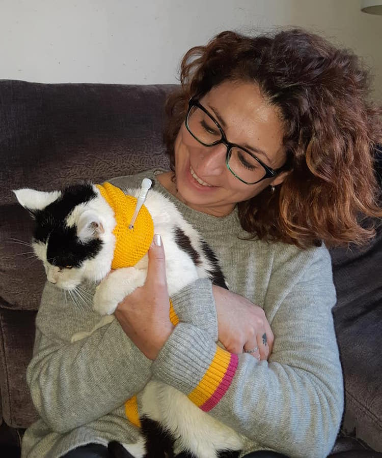 Carla Finzel is a registered vet nurse and is the first in the UK to provide a district nursing service for pets