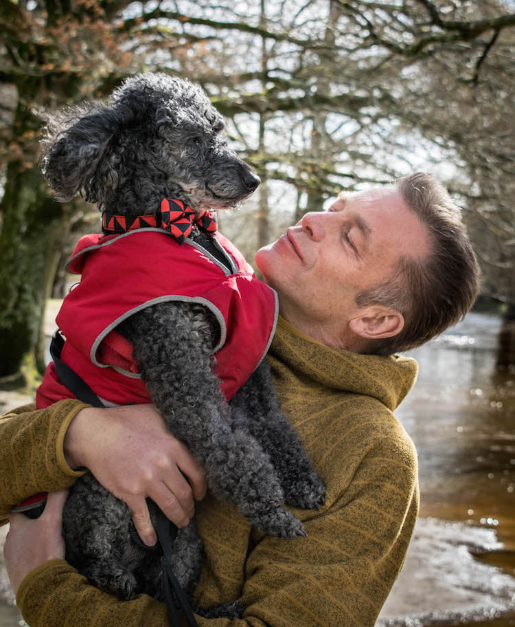 Chris and his poodle Scratchy © Dogstival/Harry White Photography