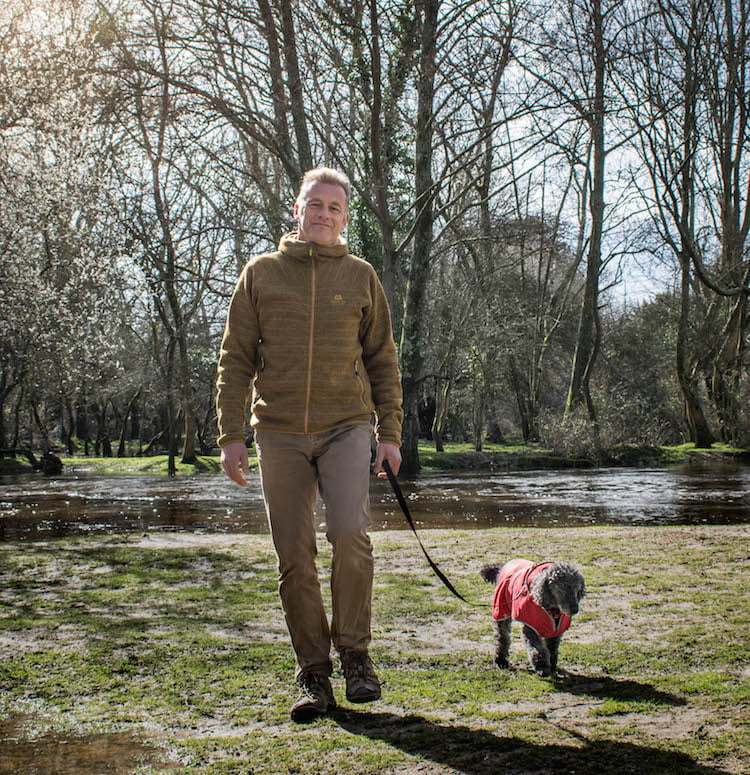 Chris out walking with Scratchy © Dogstival/Harry White Photography
