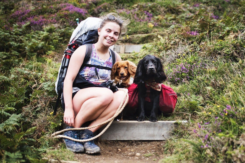 Hattie Day walking the Cornish Coast Path Spaniel Aid
